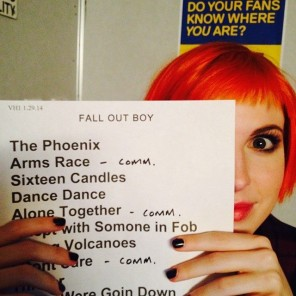 hayley williams + fall out boy