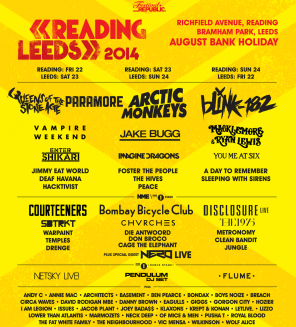 reading and leeds + paramore