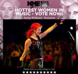 NME hlasování Hayley Williams